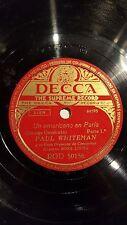 JAZZ 2 x 78 rpm RECORDS Decca PAUL WHITEMAN Orquesta UN AMERICANO EN PARIS
