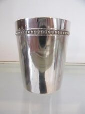 timbale argent minerve 950 perles E Puiforcat 70g (950 silver baby cup)