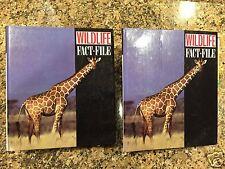 Wildlife Fact File 2 Binders 200+ Cards Education-School Mammals-Birds-Reptiles