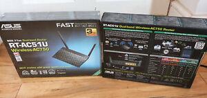 ASUS Rt-ac51u Ac750 WLAN Router Wireless Dual Band Black