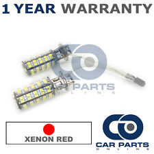2X XENON RED H3 60 SMD LED FOG LIGHT BULBS FOR SMART CABRIO FORTWO ROADSTER