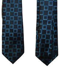 "NEW Pierre Cardin 56.5"" X  2.5"" Slim Tie Mens One Size - Black/teal A718"