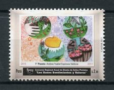 Peru 2017 MNH UPAEP Stamp Design Contest Healty Values & Feelings 1v Set Stamps