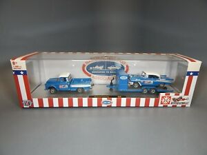 M2 Auto Haulers NHRA 1958 Chevrolet Cameo & 1957 Bel Air GASSER on TRAILER MIB