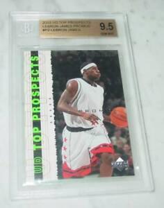 Lebron JamesP2 UD Top Prospects Promo Rookie 2003 UPPER DECK BGS 9.5