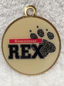 KOMMISSAR REX HUNDEMARKE - HALSMARKE - SCHÄFERHUND - POLIZEIHUND - NEU & OVP