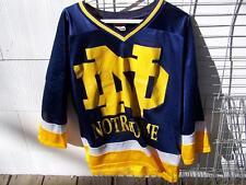 Vintage Notre Dame Hockey Jersey Shirt Red Oak Blue Size LARGE