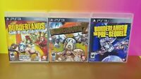 Borderlands 1 GOTY,  2, + Pre-Sequel - Sony PlayStation 3 PS3  - 3 Games Lot