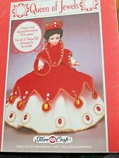 """Crochet Motif Fibre Loisirs Créatifs Reine De Bijoux 15 """" Poupée 1991"""