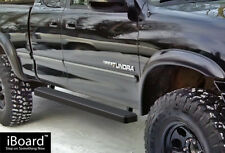 """iBoard Side Steps Nerf Bars 4"""" Black Fit 00-06 Toyota Tundra Access Cab"""