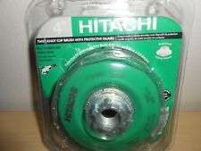 Hitachi 729220 4-Inch Twist Knot Carbon Steel Wire Cup Brush with Guard