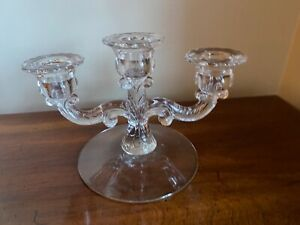 Glass No Etch triple CANDLE HOLDER  Depression