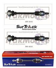 For BMW 525i 528i 530i RWD 97-03 Pair of Rear CV Axle Shaft Assies SurTrack Set