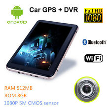"7"" Android 4.4 WIFI Tablet PC GPS Navigator Dash Camera Truck Car DVR FHD 1080P"