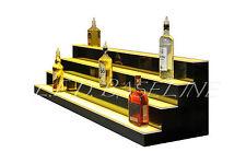 """90"""" LED BAR SHELVES, Four Steps, Lighted Bar Shelf, Liquor Bottle Display Rack"""