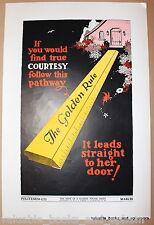 Original Poster Politeness 1937 Depression USA Child Hope of Nation Propaganda
