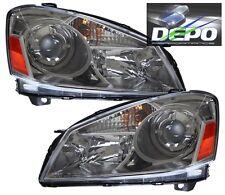Dark Chrome Head Lights Lamp DEPO Fits 05-06 Nissan Altima