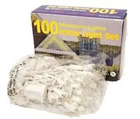 NEW OPEN BOX VINTAGE 100 MINIATURE CHRISTMAS LIGHTS ICICLE SET INDOOR/OUTDOOR
