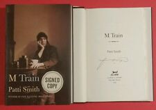 """PATTI SMITH AUTOGRAPHED BOOK  """"M TRAIN""""  SIGNED AT BARNES & NOBLE NY WITH PHOTOS"""