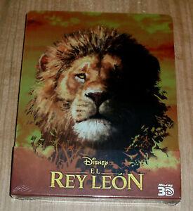 El Rey Leon Blu-Ray 3D + Blu-Ray Neuf Scellé Steelbook Disney (Sans Ouvrir) R2