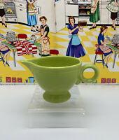 Vintage Fiesta Chartreuse Ring Handle Creamer Green Fiestaware
