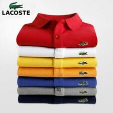 Hot Lacoste- Mens Polo Shirt Summer Short Sleeve Classic Homme Clothing C