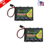 2-Pack NiMH Receiver RX Rechargeable Batteries Pack 6V 2000mAh for RC Aircrafts