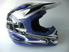 Acerbis PROFILE Sz XXL BLUE ACU GOLD Motocross Enduro Helmet YZ YZF WR WRF TT