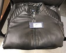 40% Reduced - NEW - Armani Jeans Faux Leather Jacket (48)