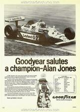 1980 ALAN JONES FORMULA 1 WORLD CHAMPION A3 POSTER AD SALES BROCHURE