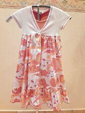 Toff Togs Mädchen Design Sommer Kleid Gr.134 Serie orange cake Neu mit Etikett