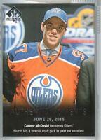 2015-16 SP Authentic Hockey #153 Connor McDavid AM Edmonton Oilers