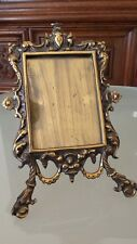 Antique French Bronze Large Family Photo Frame