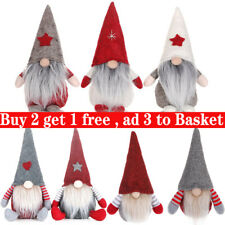Sparkly Santa Gnomes Gonks Christmas Decorations Tree Hanging Doll Toy Gift