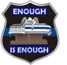 """Enough Saint Michael Blue Line Police Law Enforcement LE 4"""" St. Decal Wall Car"""