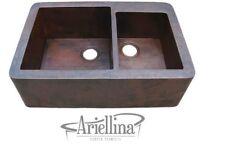 "36"" Ariellina Farmhouse 14 Gauge Copper Kitchen Sink Lifetime Warranty AC1902"