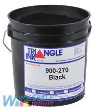Triangle Ink 900-270 Black silk screen printing plastisol 1 Gallon (3.78L)