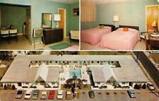 HOLLYWOOD, FL Florida  VAGABOND MOTEL  Room/TV~Pool  ROADSIDE  Chrome Postcard