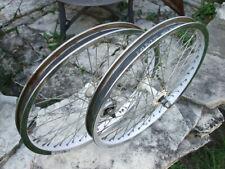Late 1980's Old School Wheel Set & Hub W/Freewheel Chrome/White 20x1.75/2.125