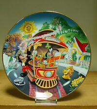 Bradford Exchange Plate - Mickey's Toontown Plate- Disneylands 40th Anniversary
