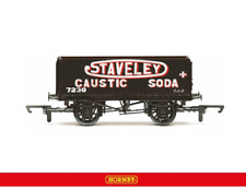 Hornby R6811 7 Plank Wagon Staveley Caustic Soda OO Gauge