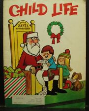vintage old Child Life book magazine December 1971 Christmas Santa cover