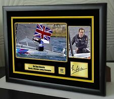 Ben Ainslie Sailor Limited Edition Framed Canvas Tribute Print Signed Great Gift