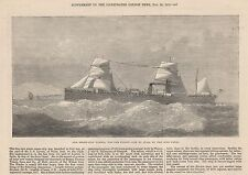 1872 STEAM SHIP HINDOO FOR THE WILSON LINE TO INDIA BY THE SUEZ CANAL