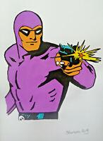 Unikat Mooseart Comic Zeichnung Phantom Gouache auf Papier 21x30cm Original
