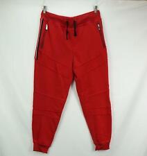 Akademiks Men's Slim Fit Sweatpants Jogger Pants Trouser Red