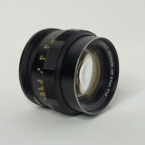 Vintage Konica Hexanon AR 57mm F1.4 EE Camera Lens Made In Japan SN7651444