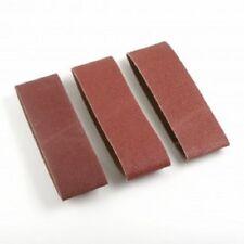 """3 pc 3"""" x 21"""" Belt Sanding Paper 60/80/100-Grit"""