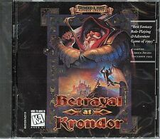 Raymond E Feist BETRAYAL AT KRONDOR PC Game CD-ROM NEW Sealed