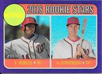 Stevenson/Robles 2018 Topps Heritage CHROME PURPLE REFRACTOR Nationals #THC-284